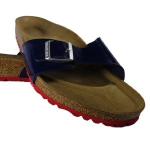 [0339261] Birkenstock Madrid (Dress Blue / Red)